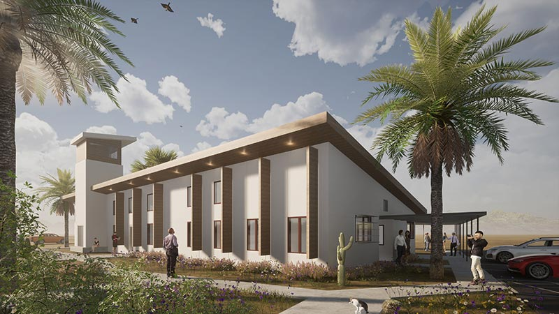 Cathedral Palms rendering