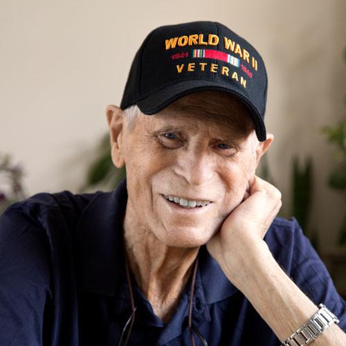 World War 2 veteran smiling looking at camera