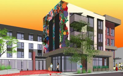 National CORE Commissions Public Art Mural On 3rd & Dangler Affordable Housing Project