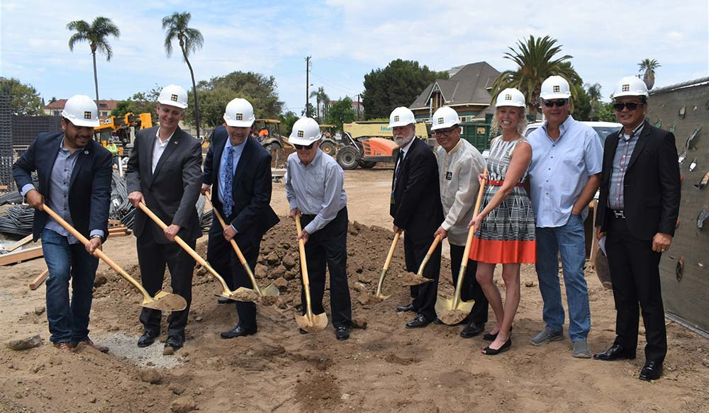 Developer and officials ceremonially break ground at Legacy Square in Santa Ana